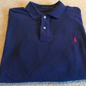 2XL navy polo shirt